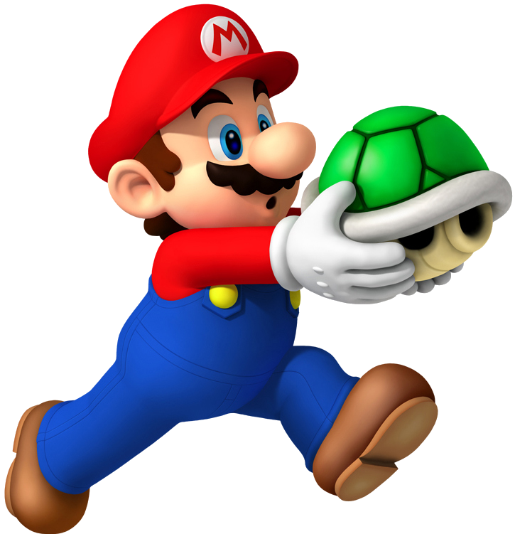 Super mario 3 png. Image with shell artwork