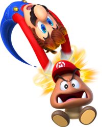 Goomba transparent stacked. Capture super mario wiki