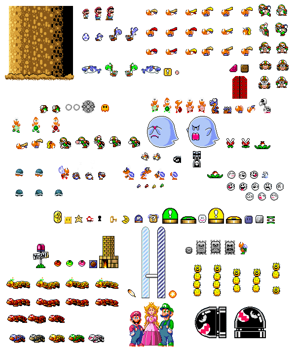 Super mario world sprite png. Sprites pixel art pinterest