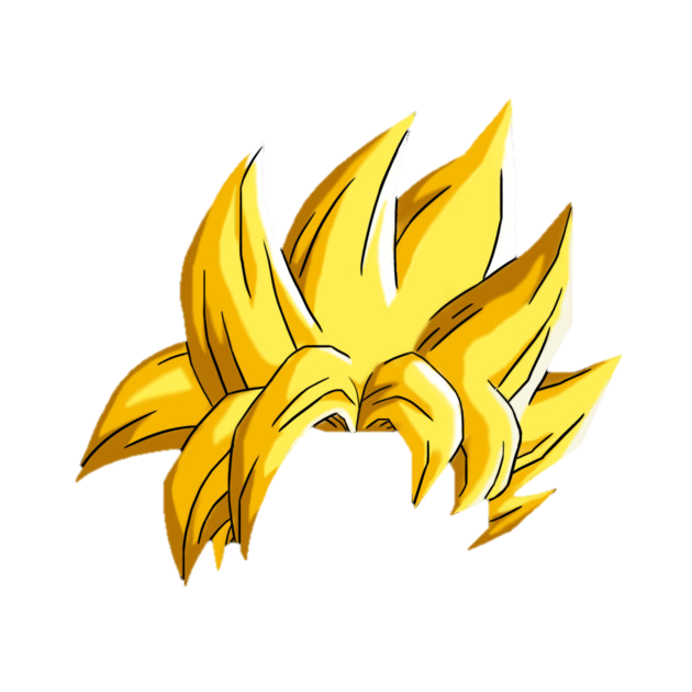 Goku hair png. Image saiyan object shows