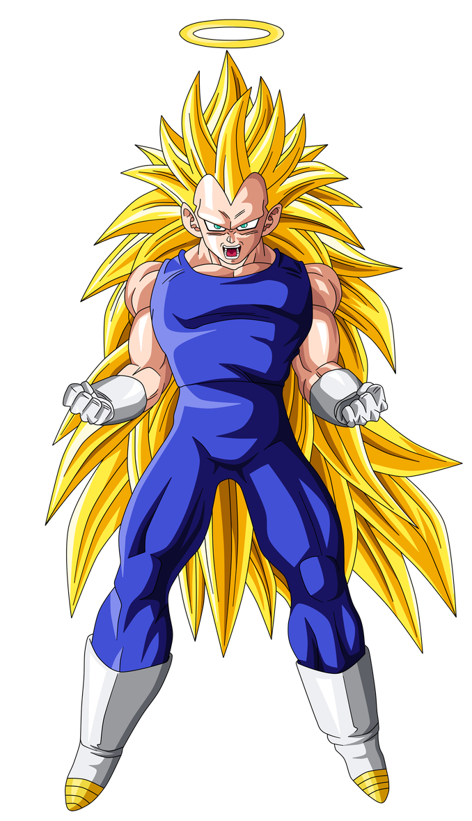 Super saiyan 3 goku png. Vegeta by kakarot on