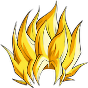 Goku hair png. Best super saiyan
