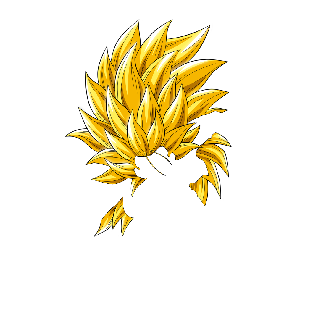 Super saiyan 3 hair png. Dragon ball z s