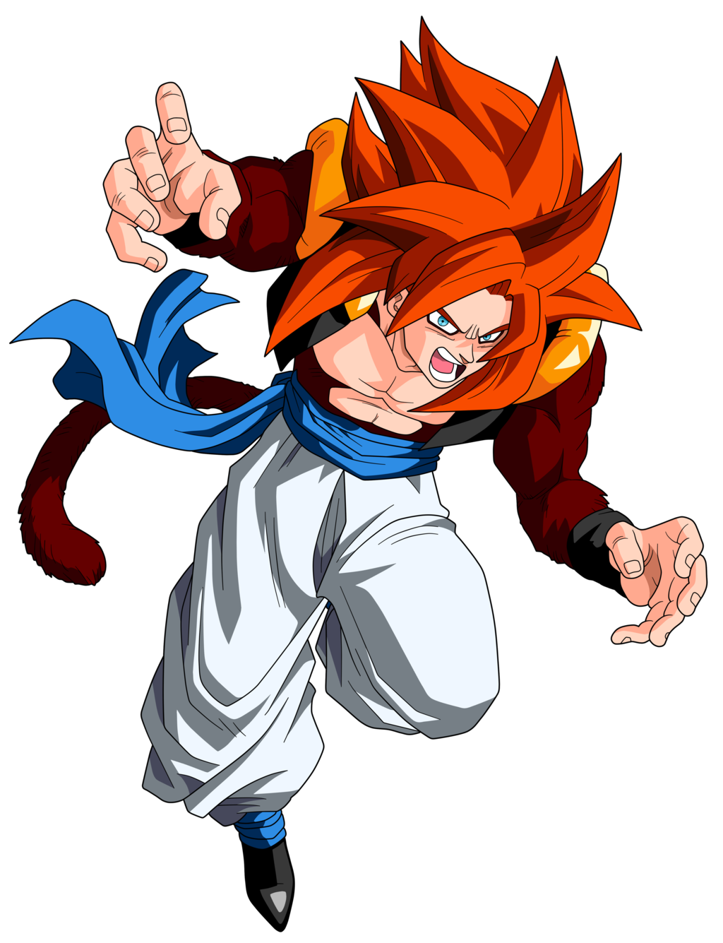 Gogeta Ssj4 Transparent Png Clipart Free Download Ya Webdesign