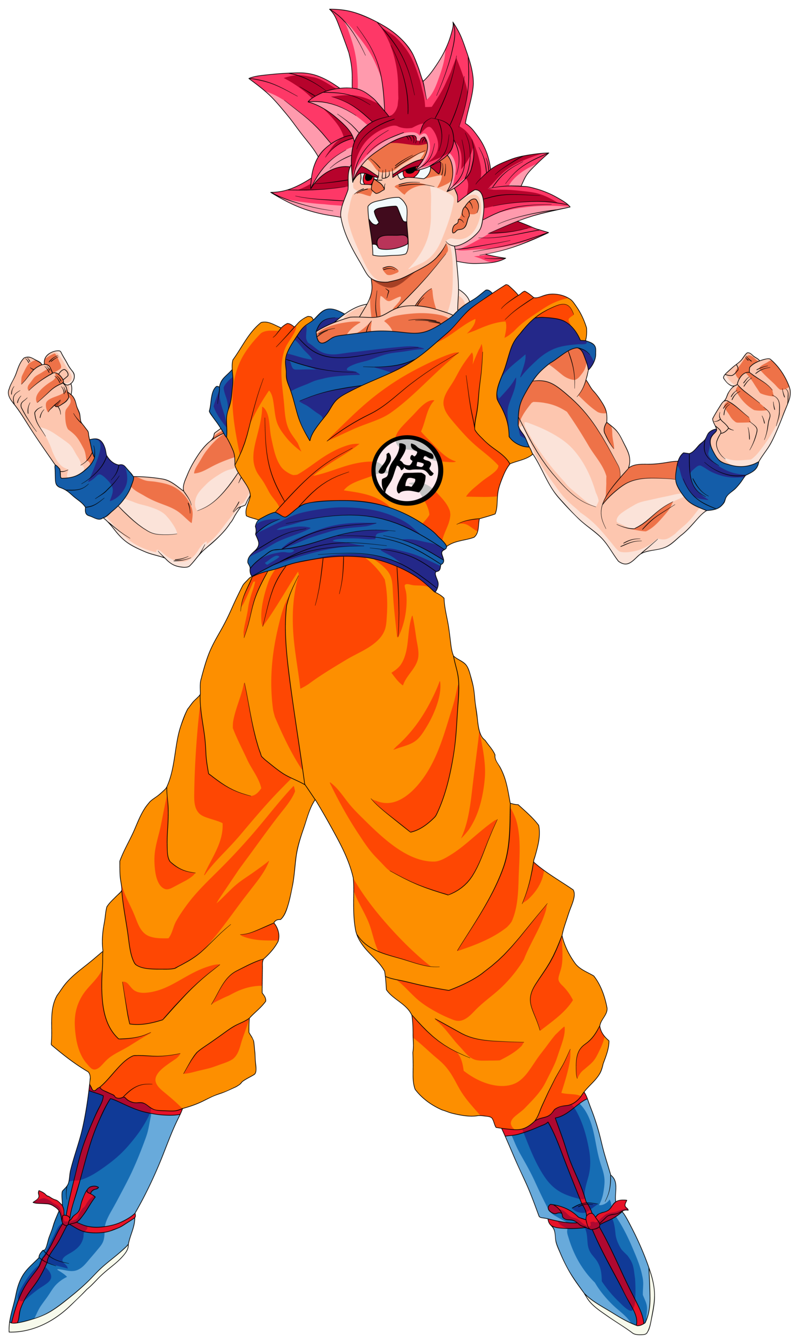 Super saiyan power up png. Image goku god palette