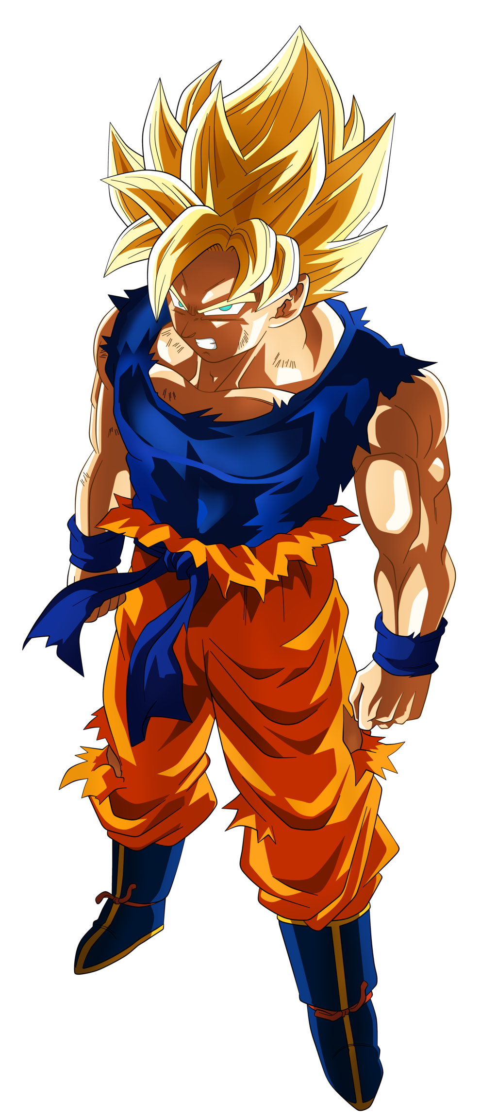 Super saiyan goku png. Image son fnf by
