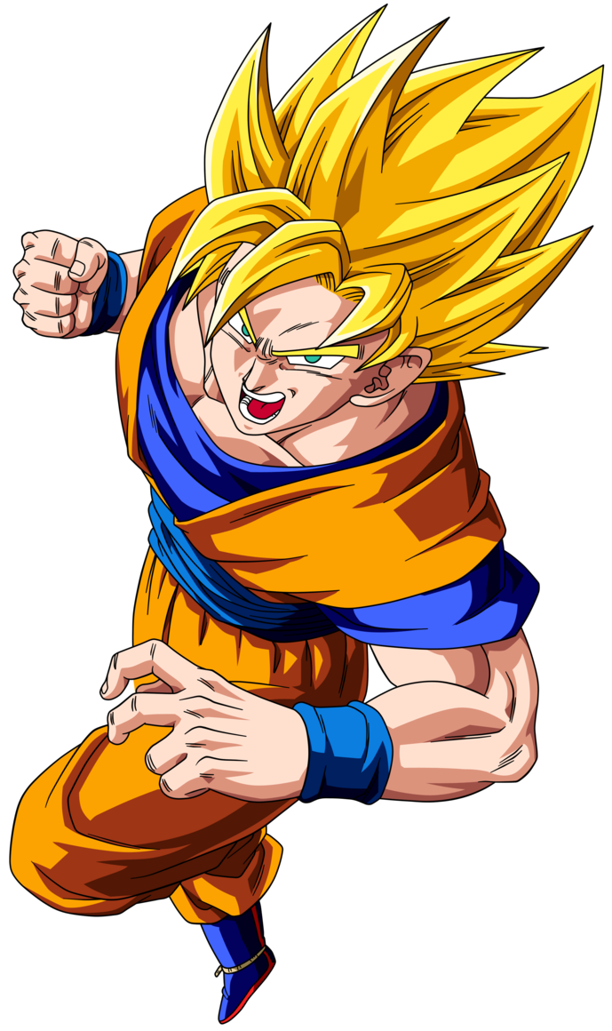 Super saiyan goku png. Ssj dbz dragon ball