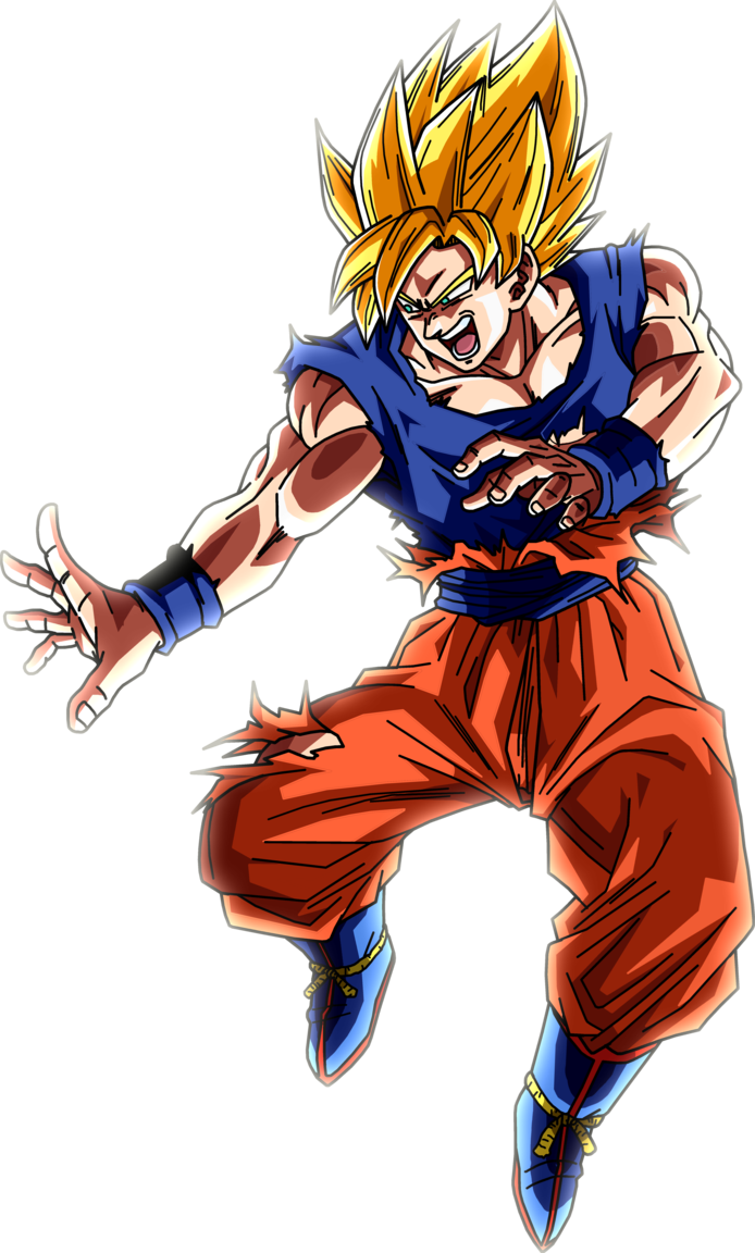 Super saiyan goku png. By brusselthesaiyan on deviantart