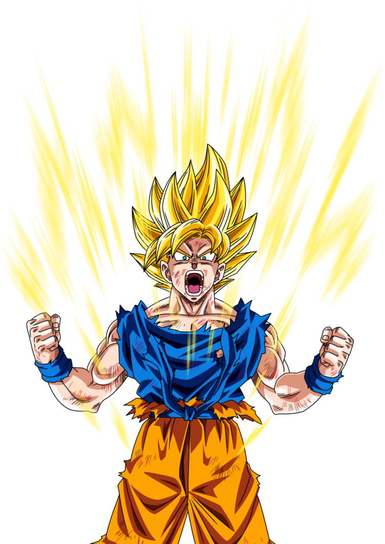 Super saiyan power up png. Image goku by maffo