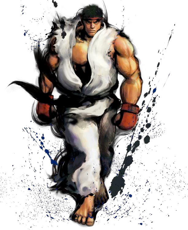 Street fighter 4 ryu png. Artwork fighting game news
