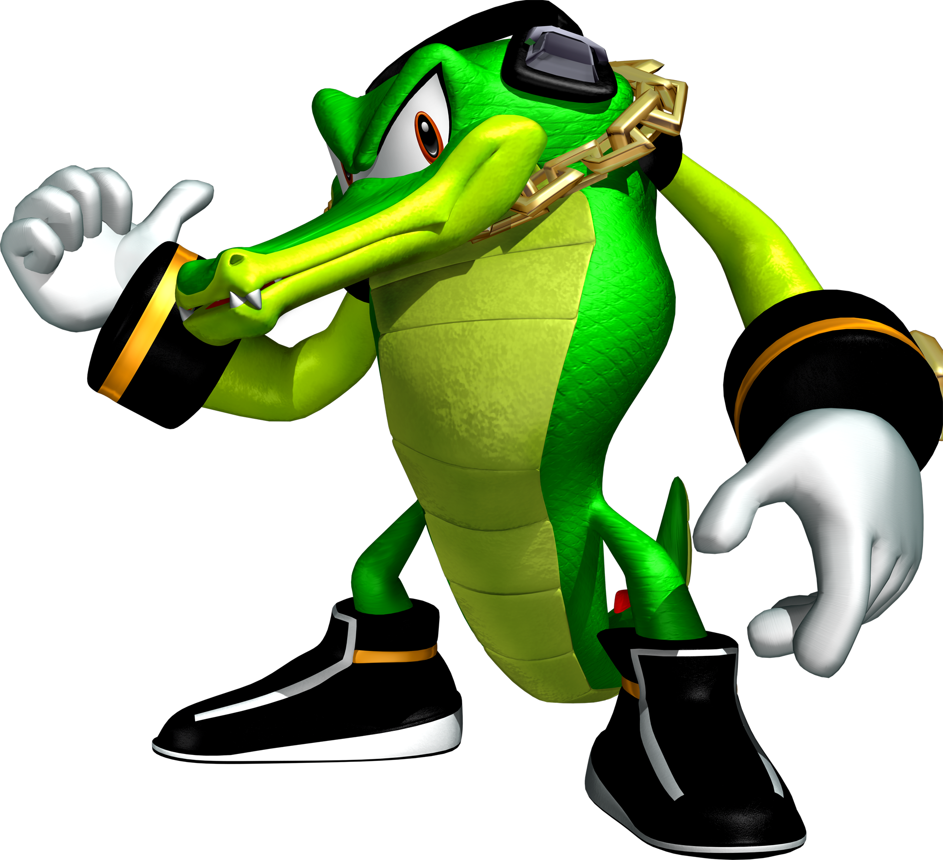 Super vector crocodile. The is a character