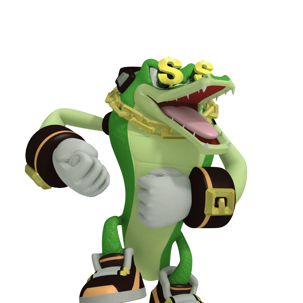Vector alligator sonic character. Image the hedgehog know