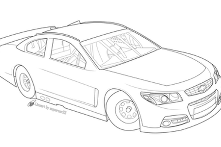 Vector sketches car. Nascar race drawing k