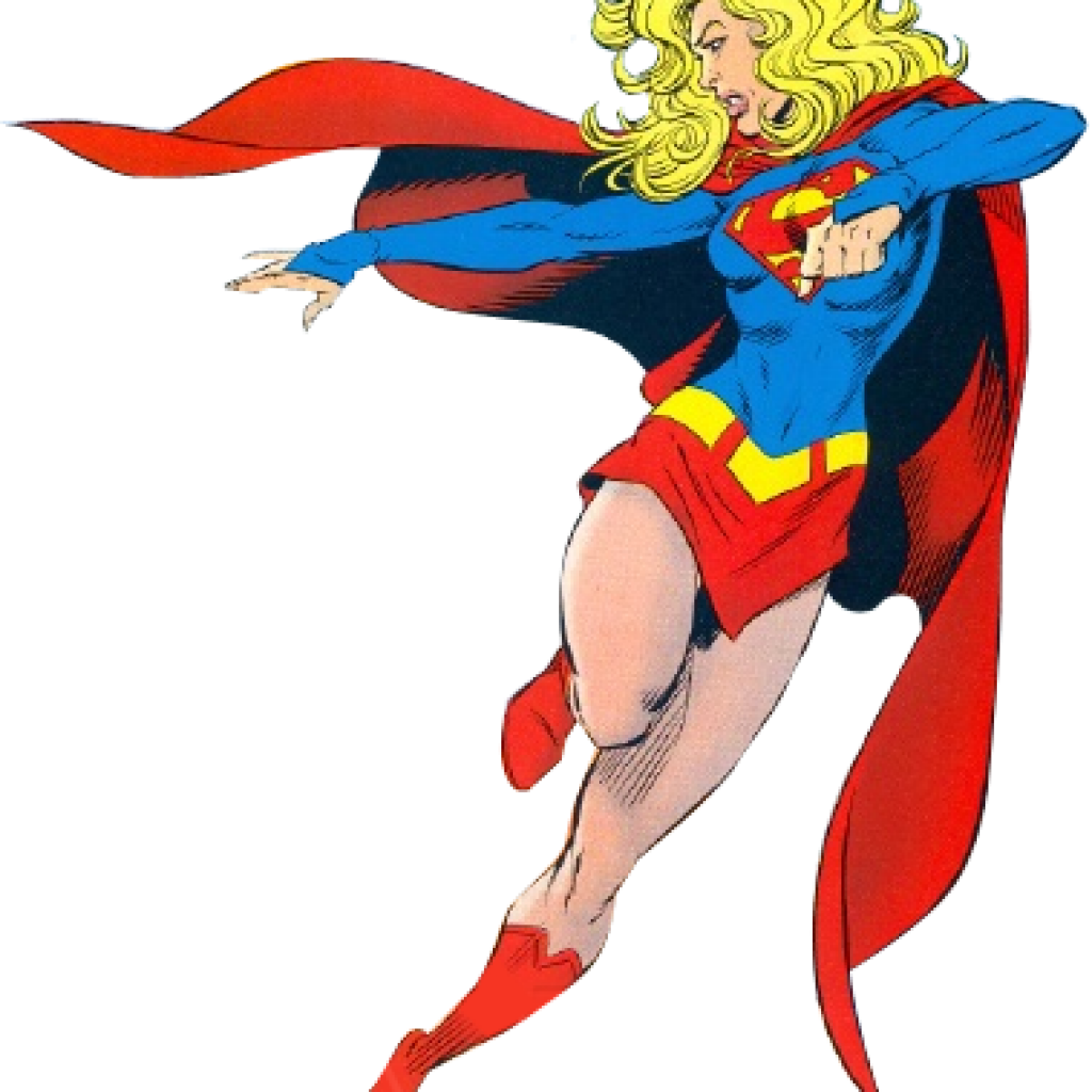 Supergirl vector. Collection of clipart