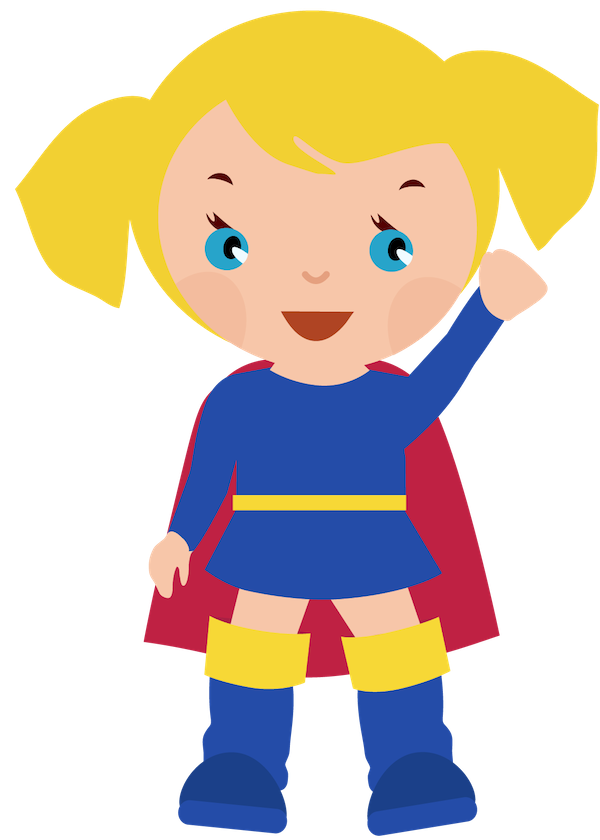 Superhero clipart. Female clipartcow supergirl party