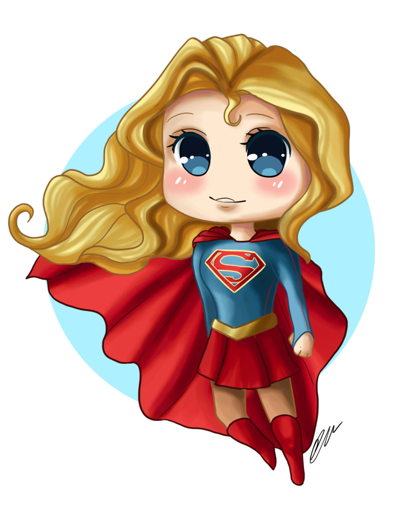 Markers drawing supergirl. Chibi video by artbox