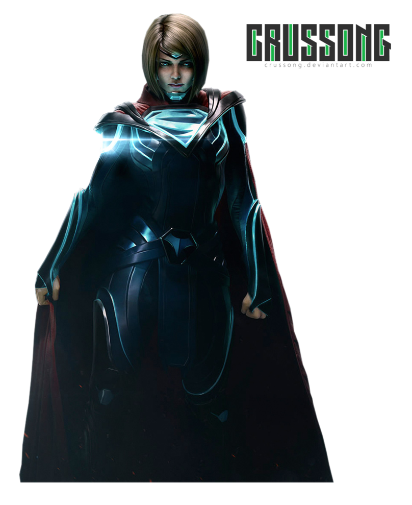 Supergirl injustice 2 png. Render by crussong on