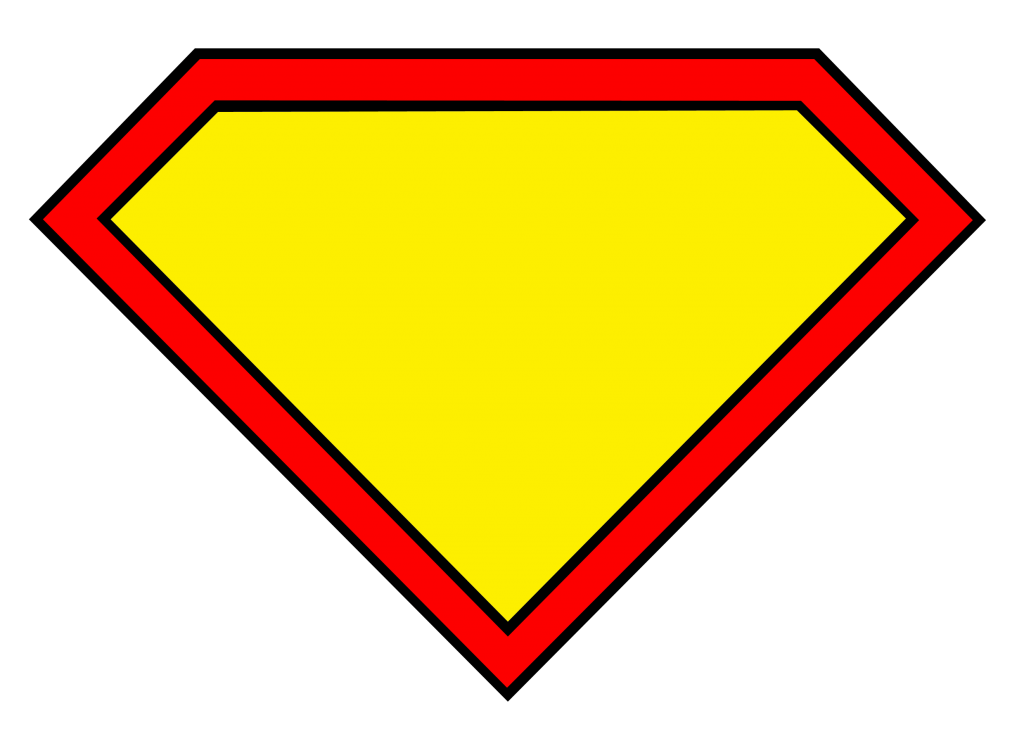 Supergirl logo shape clip art png. Add your own letter