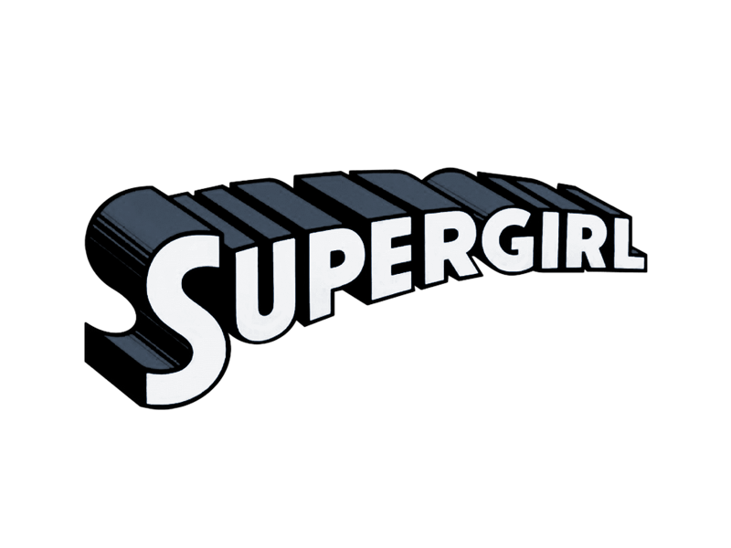 Supergirl title png. Ian churchill original art