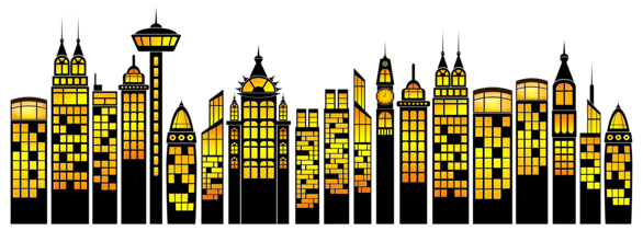 Superhero skyline png. Collection of cityscape