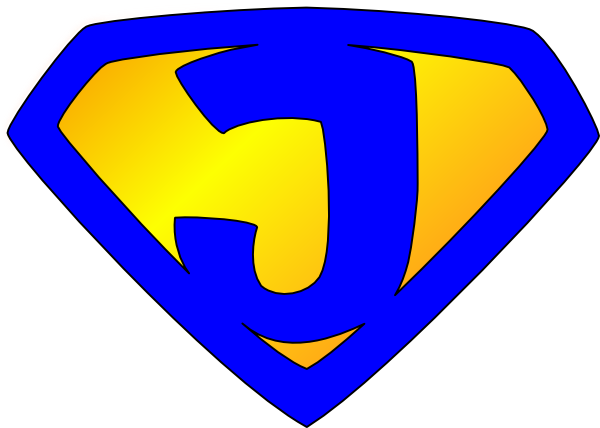 Superhero logos png. Jesus logo blue yellow