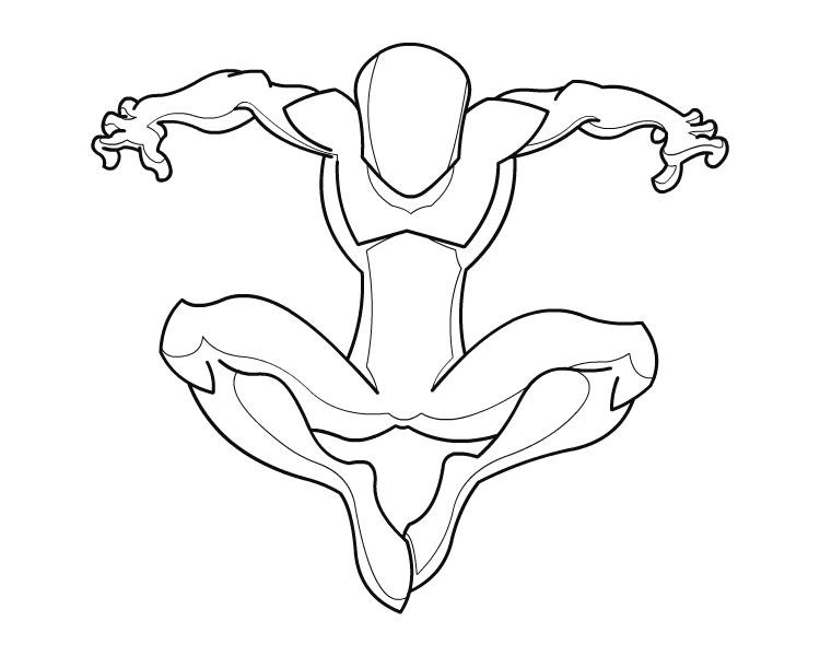 Drawing marvel outline. Female superhero template at