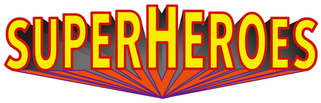 Superhero words png. The greatest and villain