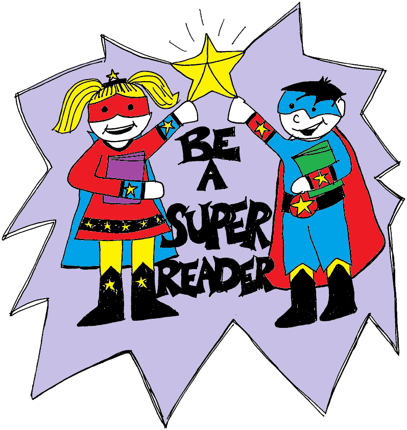 Readers st clair cds. Superheroes clipart super reader stock