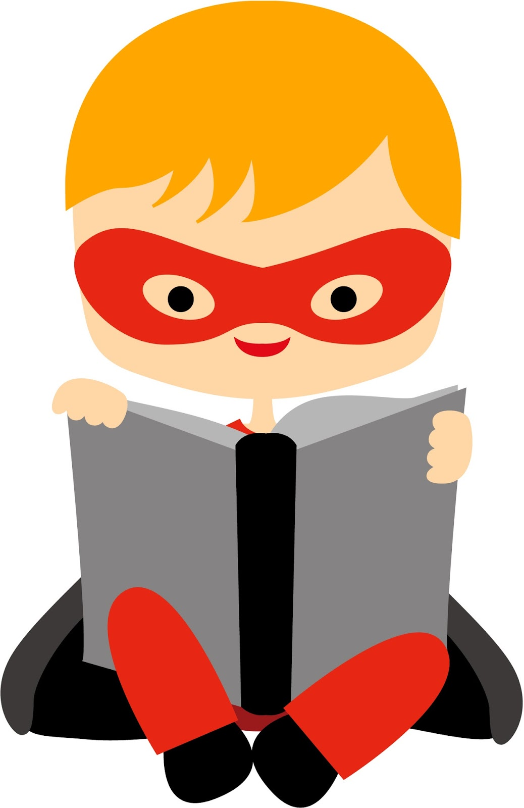 Books are just the. Superheroes clipart super reader vector royalty free stock