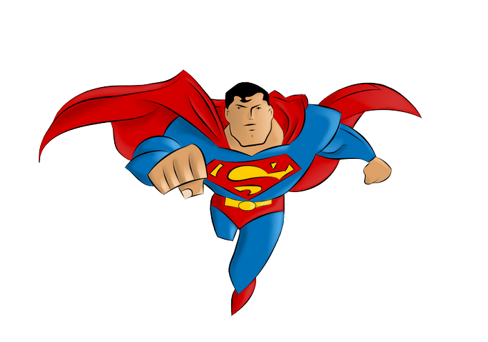 Superman cartoon png. Famous characters of all
