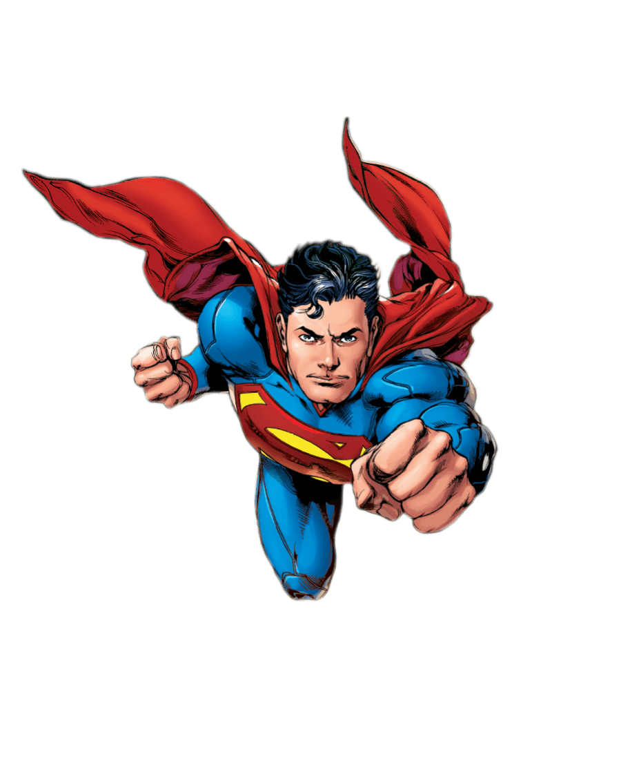 Superman cartoon png.