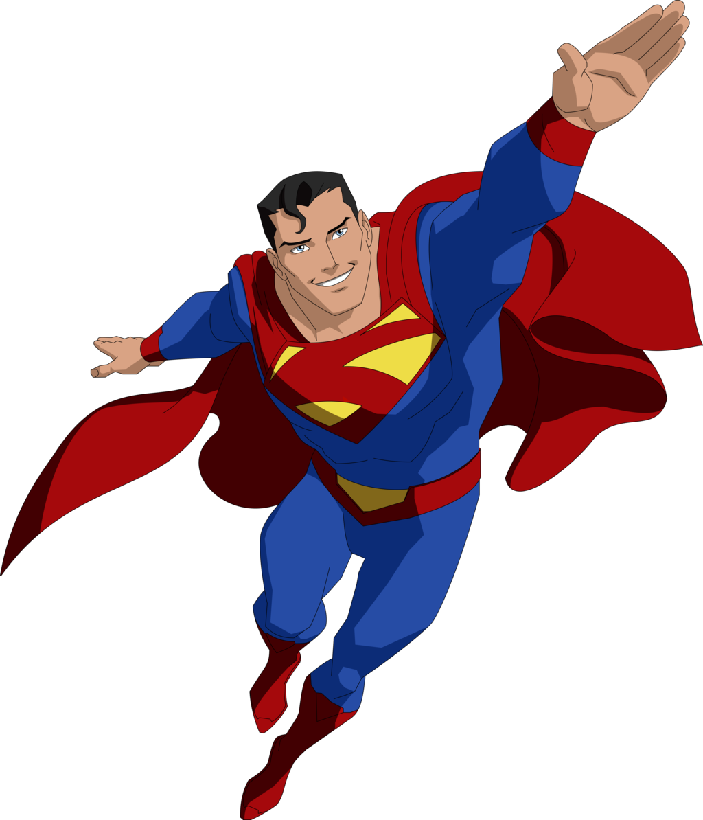 Superman clip. Apple with freeuse stock