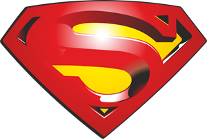 Superman clip eps. Logo vector free download