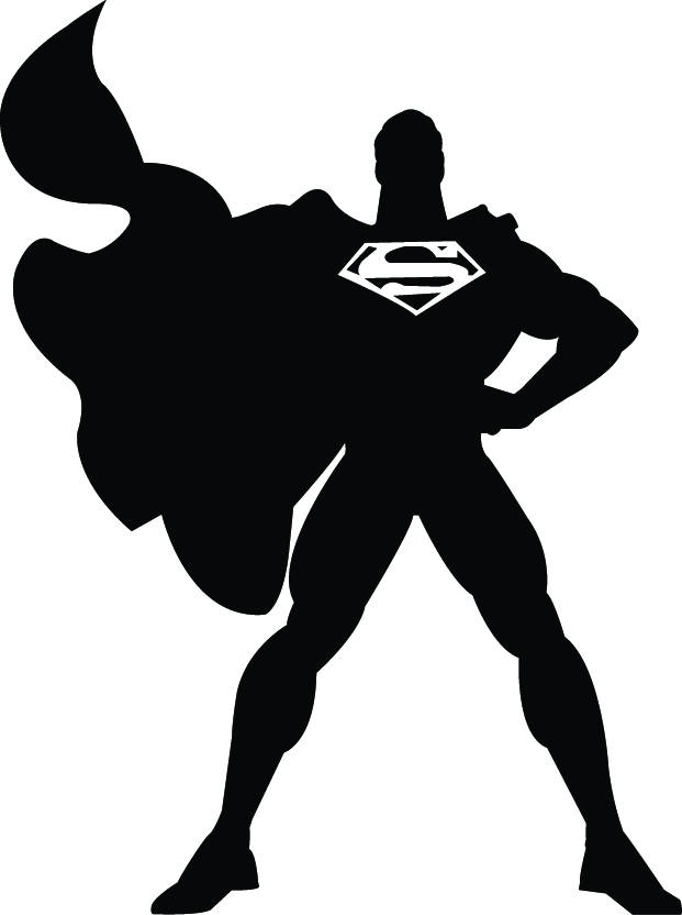 Superman clipart gray. Svg silhouette this is