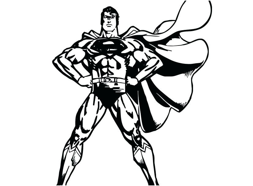 Superman clipart gray. Color pages coloring kids