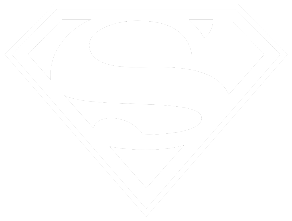 Superman logo black and white png. Transparent images arts