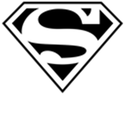 Superman logo black and white png