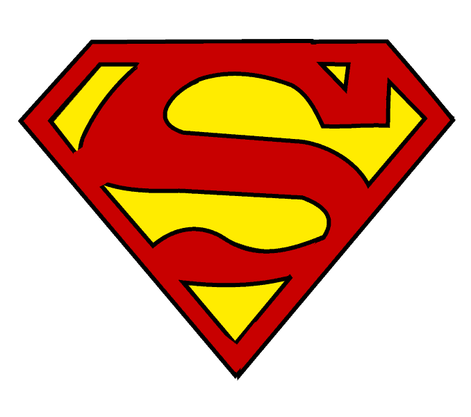 How to draw superman. Lakers drawing easy image free stock