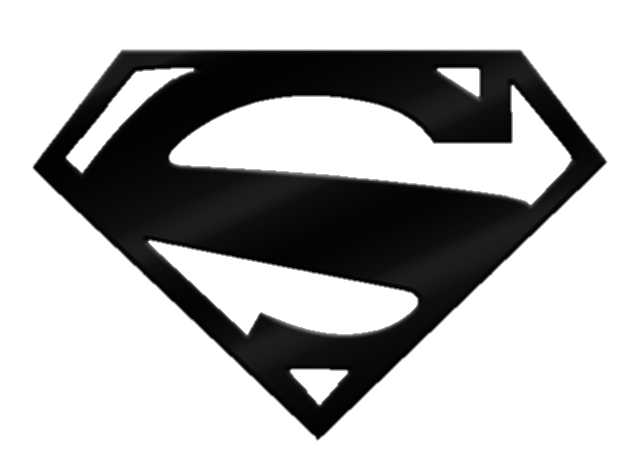 Superman logo .png. Black and white png
