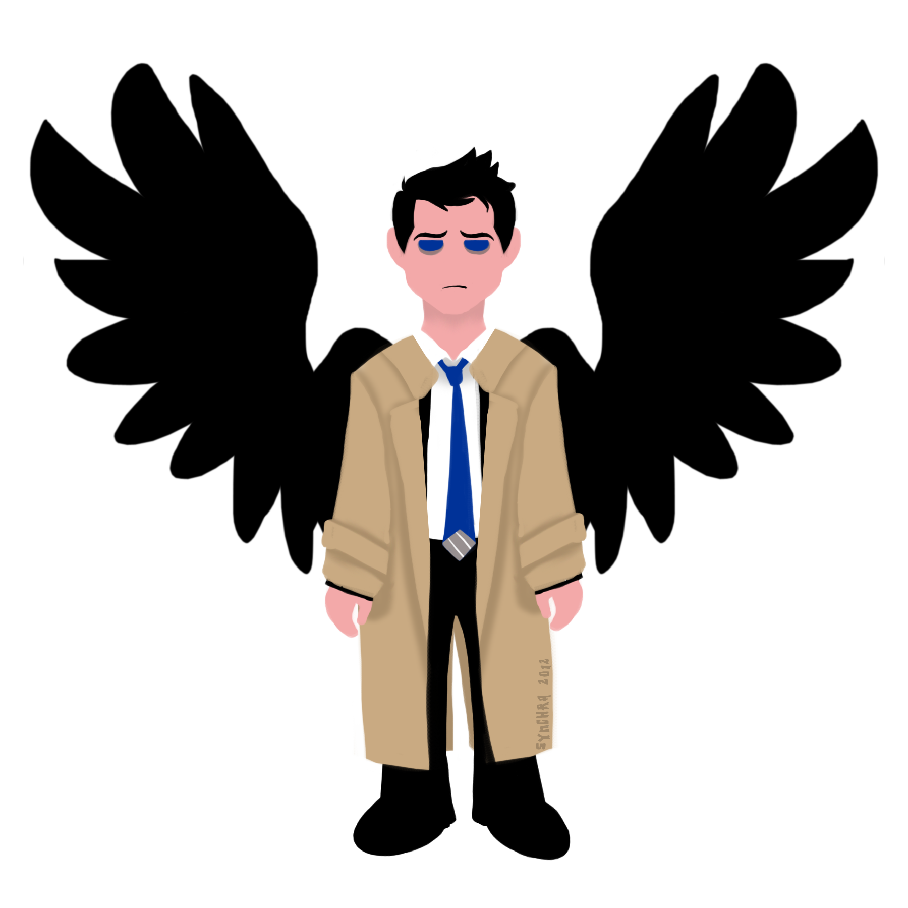 Supernatural clip castiel. Simple tree topper weasyl