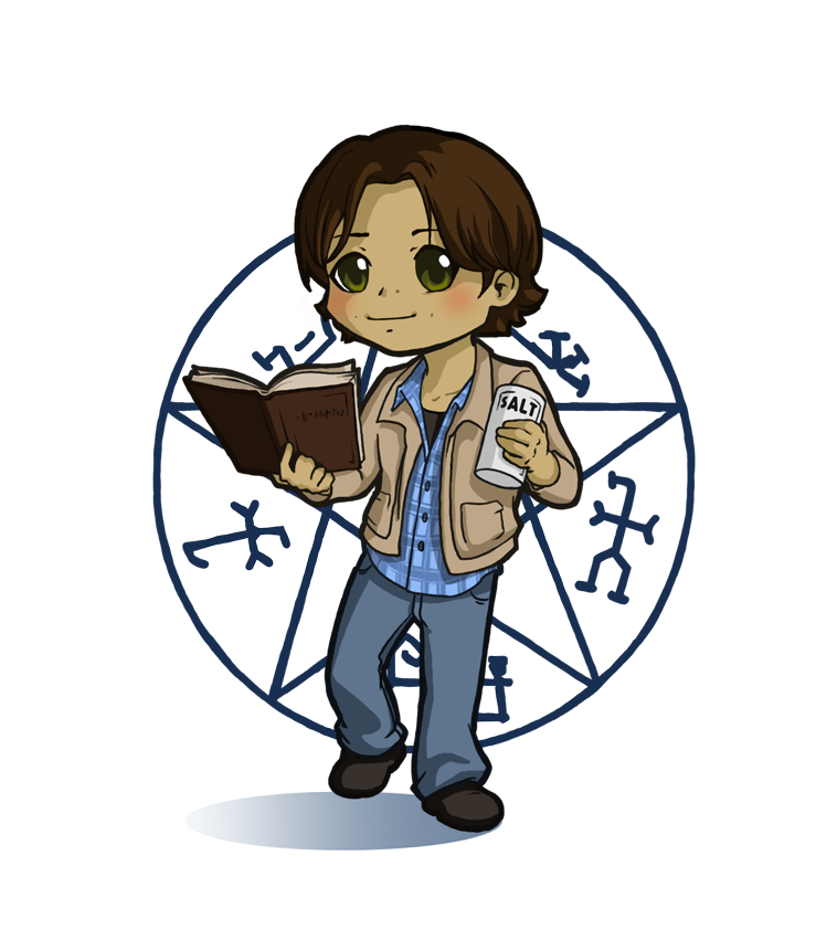 Supernatural clip castiel. Sam stickers preview by