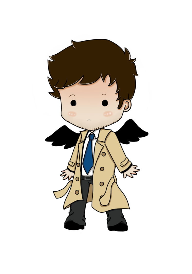 Supernatural clip castiel. Chibi by freakingzebra on