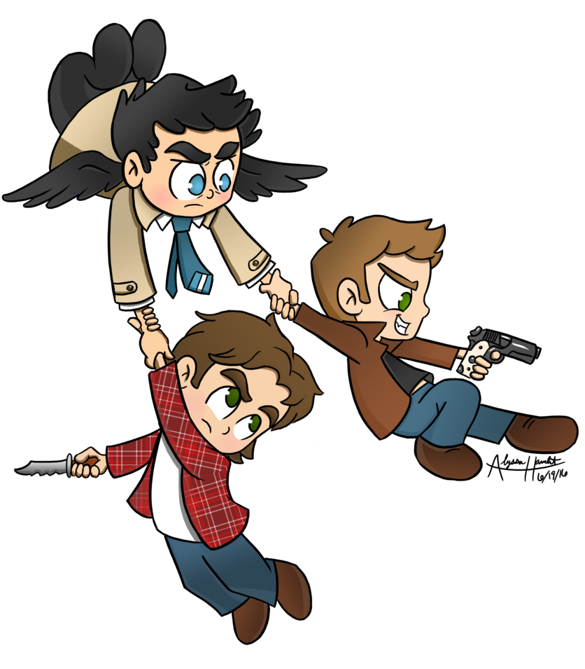Supernatural clip. Chibis for neverjay by