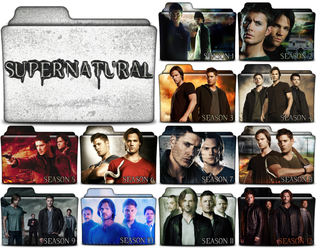 Supernatural show png. Tv folders in and