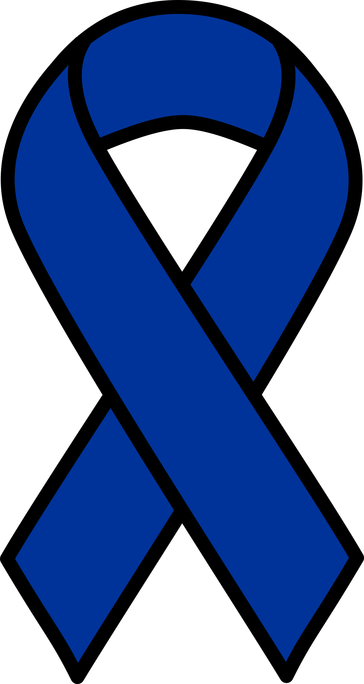 Support drawing colon cancer ribbon. Awareness symbol image collections