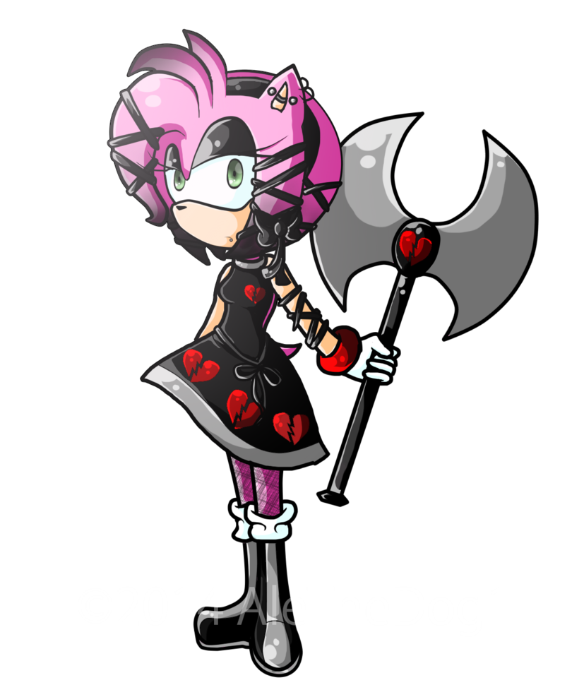 Support drawing emo. Amy speedpaint by alethedog