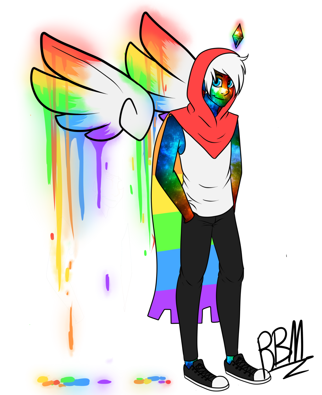 Androgynous drawing lgbtq pride. Collection of lgbt