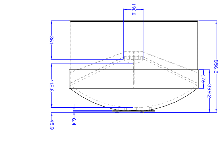 Support drawing secondary. Of the assembled antenna