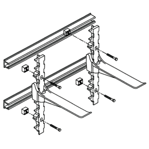Support drawing stanchion. Frs unistrut add to