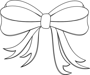Support drawing white ribbon. Bow clip art at